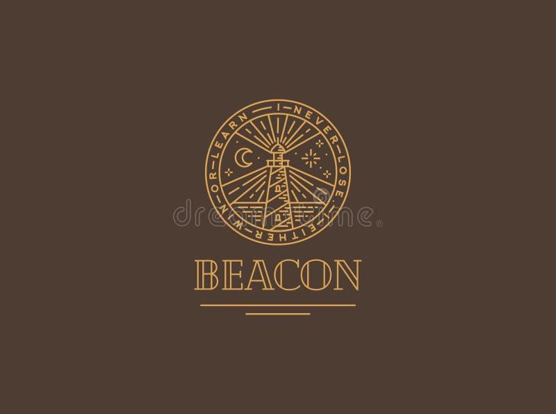 Logo vector with beacon stock photos