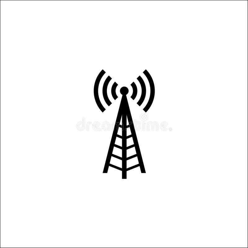 illustration radio antenna wireless. Technology and network signal radio antenna royalty free illustration