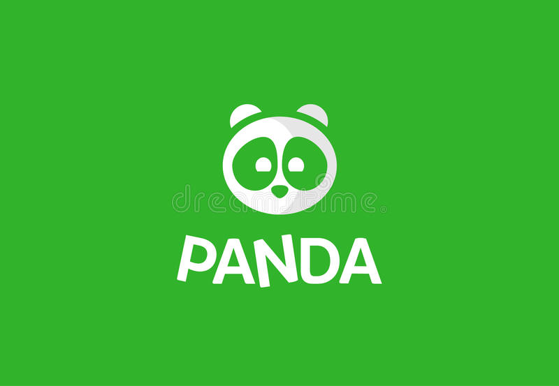 Logo vector with panda royalty free stock image