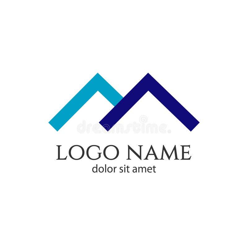Logo Vector Template Design Illustration à la maison illustration libre de droits