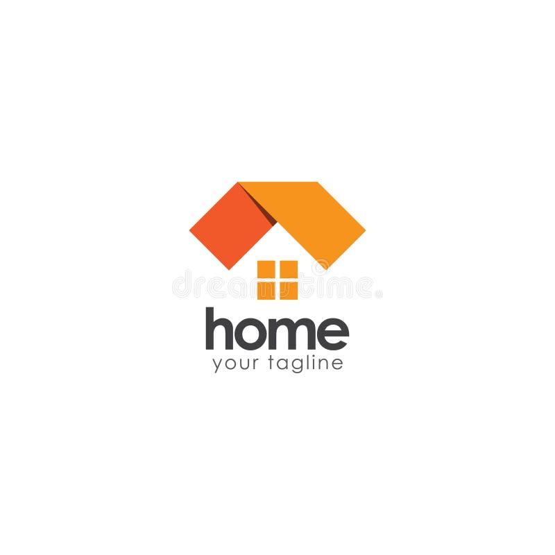 Logo Vector Template Design Illustration ? la maison illustration de vecteur