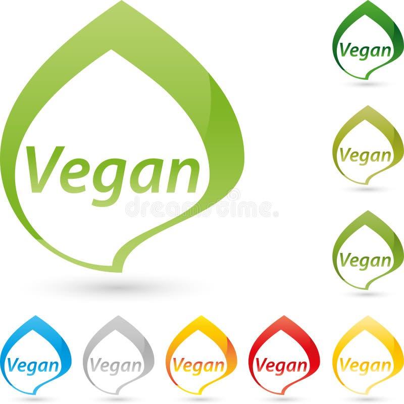 Logo vegetariano di simbolo, del vegano e dell'alimento illustrazione vettoriale