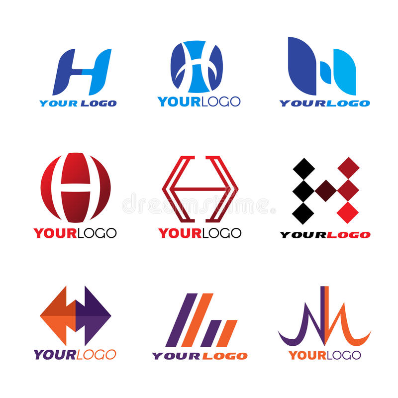 Logo-Vektorbühnenbild des Buchstaben H stock abbildung