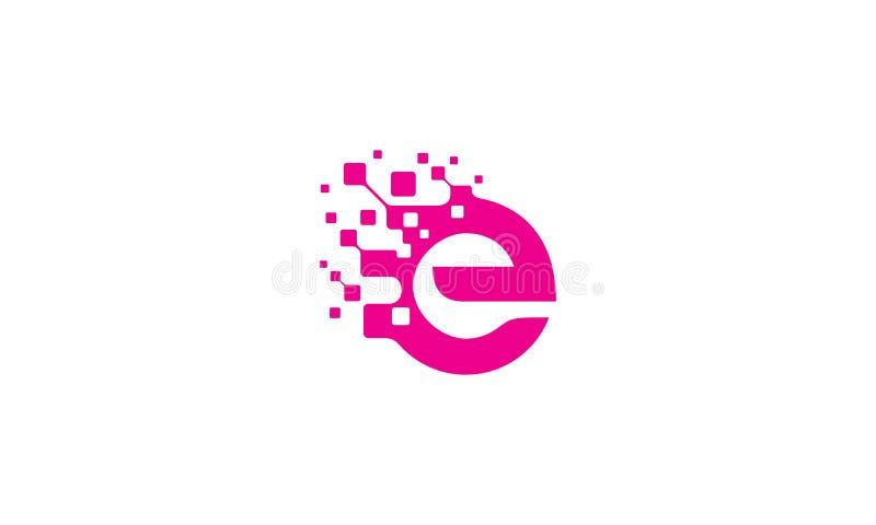 Logo-Vektorzuerstikone E digitale lizenzfreie abbildung