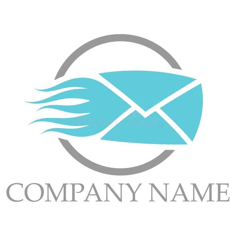 Logo veloce della posta illustrazione vettoriale