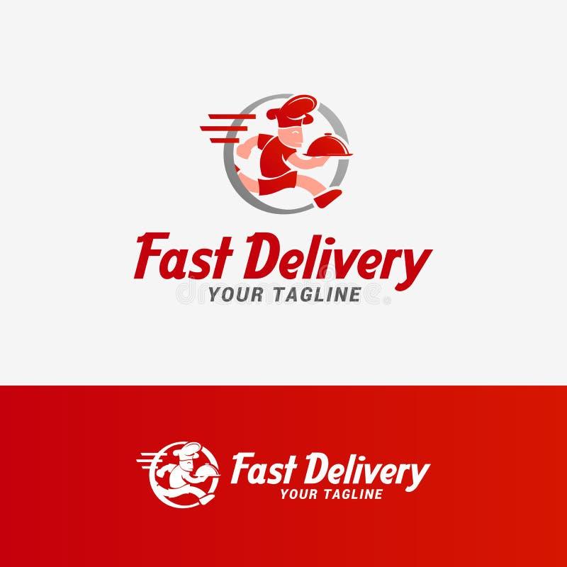 Logo veloce di consegna royalty illustrazione gratis
