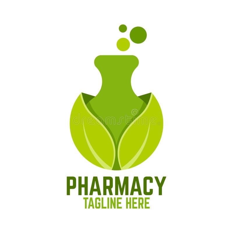 Logo verde del laboratorio Illustrazione di vettore illustrazione di stock