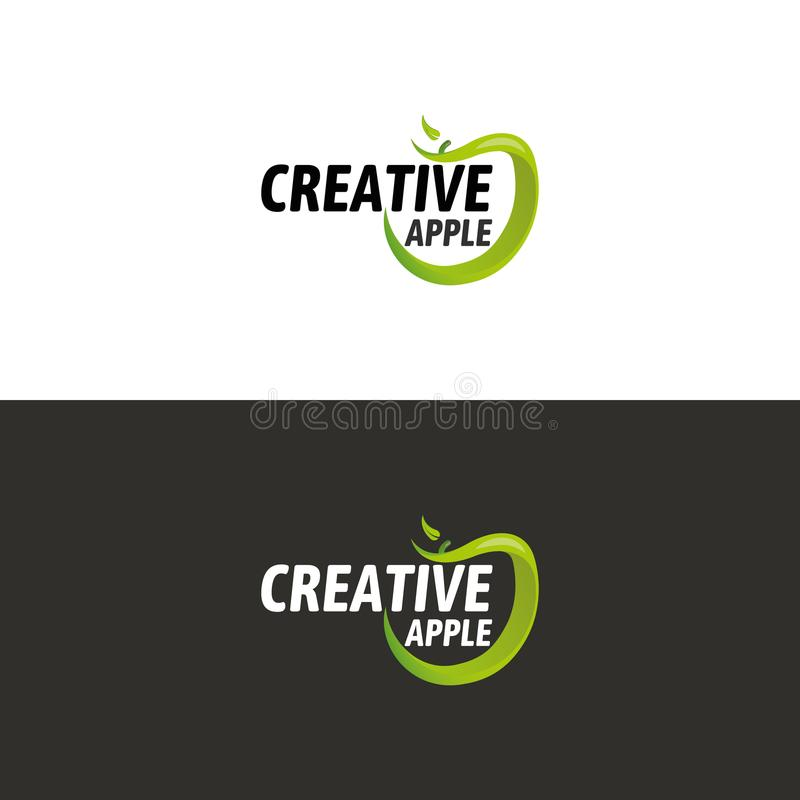 Download Logo verde di Apple illustrazione vettoriale. Illustrazione di mela - 117980835