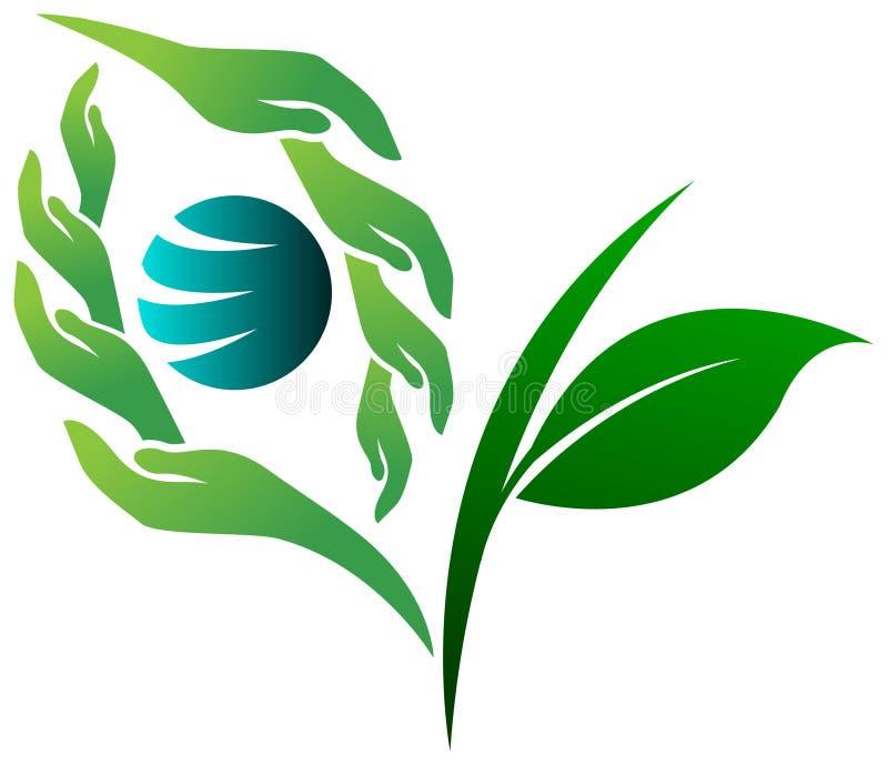Logo verde di visione illustrazione di stock