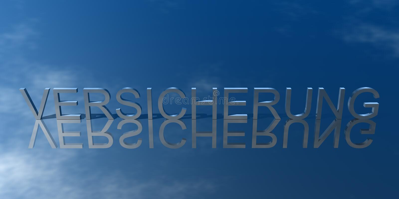 Logo Versicherung Blau illustration de vecteur