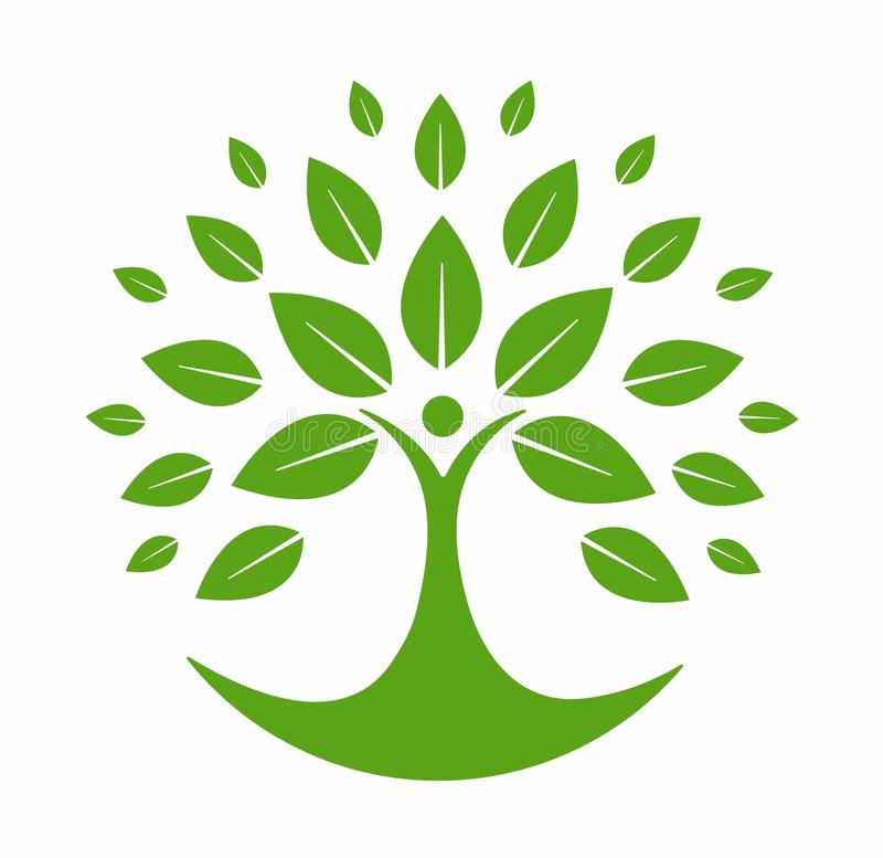 Logo vert d'arbre illustration stock