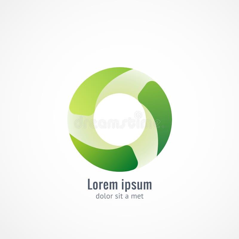 Logo vert d'Eco illustration libre de droits