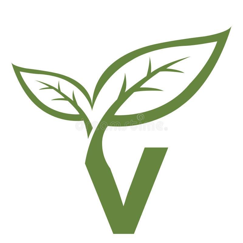 Logo vert de l'initiale V de vecteur illustration de vecteur