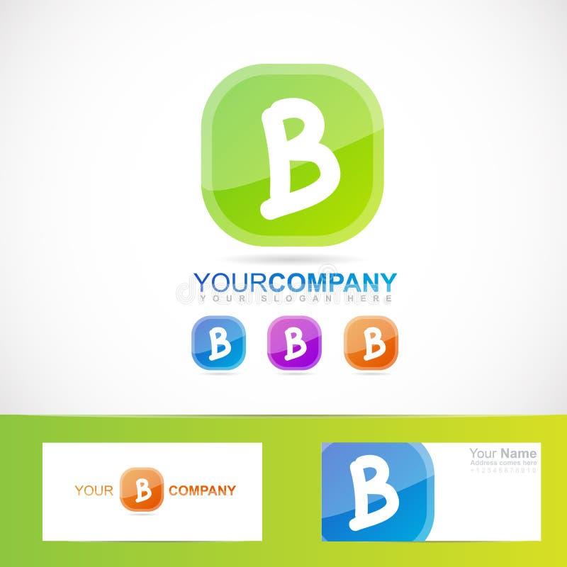 Logo vert de la lettre B illustration stock