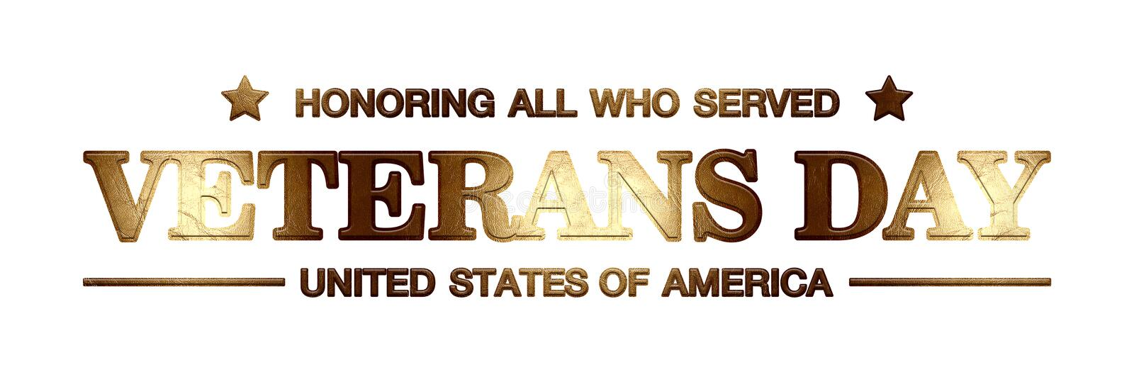Logo Veterans Day libre illustration