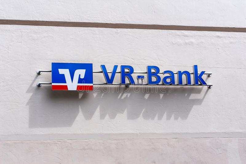 Logo of the Volksbanken and Raiffeisenbanken in Germany. The German Volksbank is a cooperative bank and aredit institution that is in the legal form of a royalty free stock photos