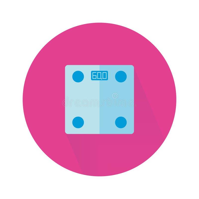Logo von intelligenten Skalen in der flachen Art Eignungsausrüstung für das Lösen des Gewichts vektor abbildung