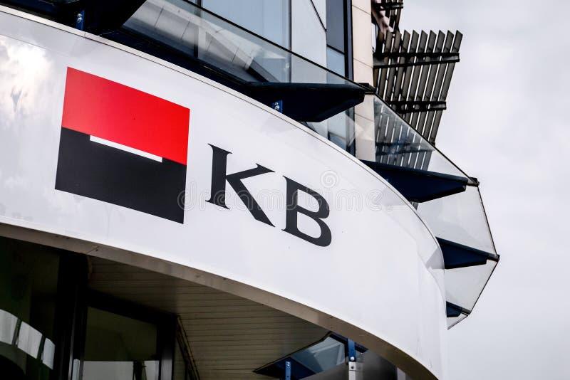 Logo von Niederlassung Komecni Banka Societe Generale/Commercial Bank in Havirov stockfoto