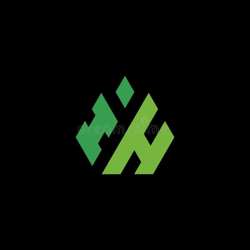 Logo W illustration stock