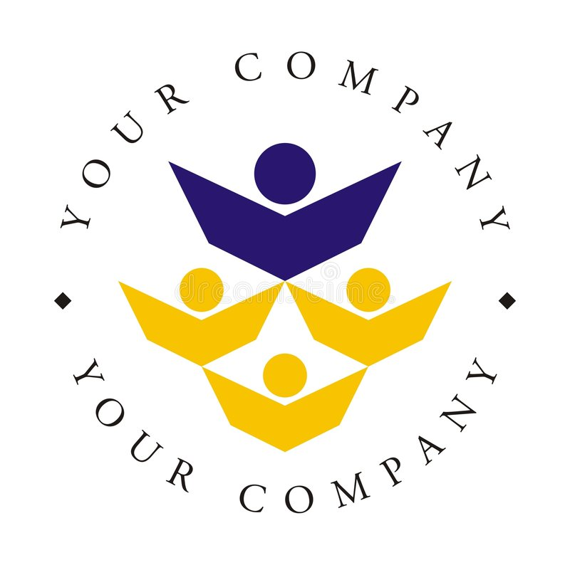 logo w akademii. ilustracja wektor
