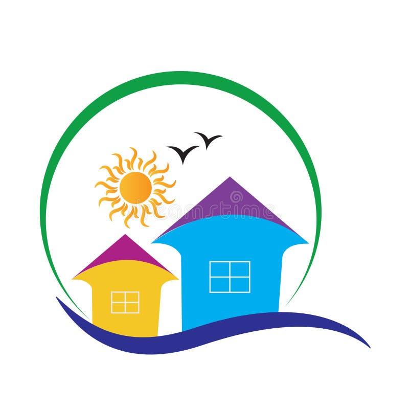 logo w domu ilustracja wektor