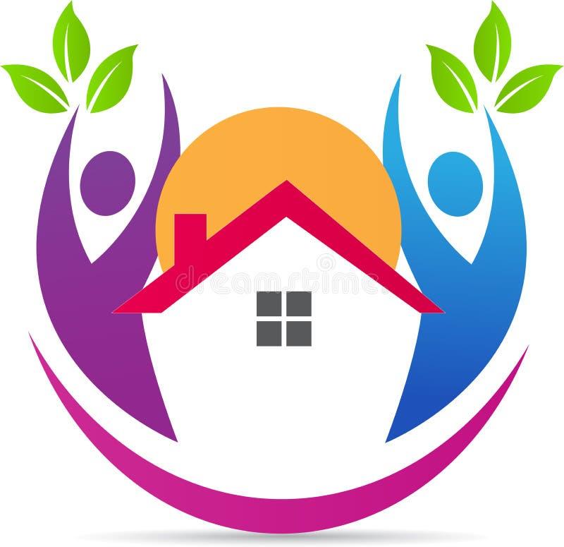 logo w domu ilustracji