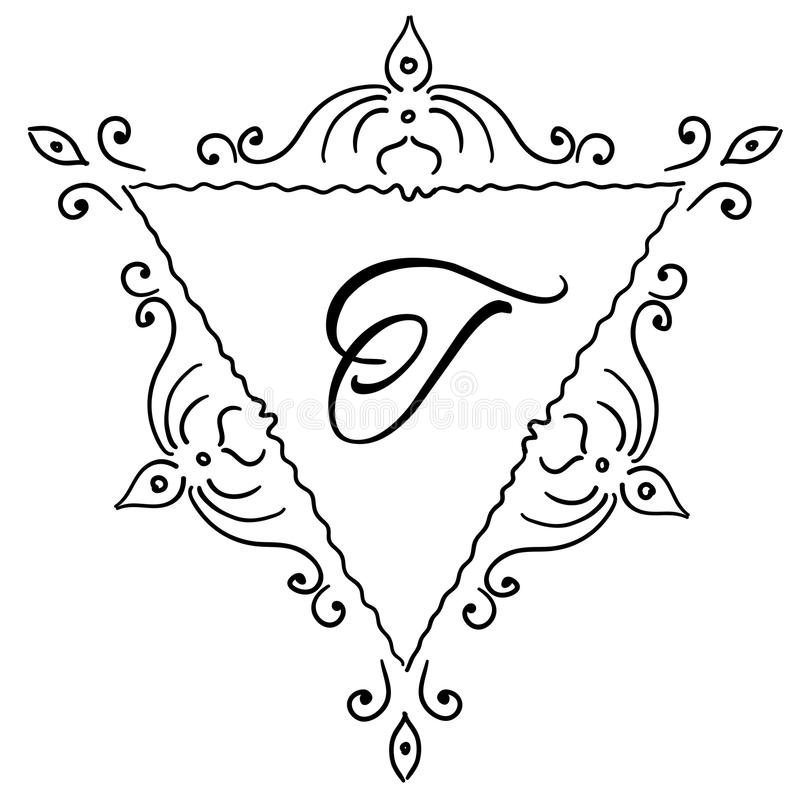 Logo w modnym liniowym stylu royalty ilustracja