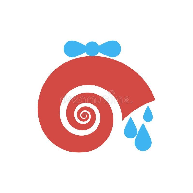 Logo w postaci ślimaczka, spirala, wodny klepnięcie ilustracja wektor