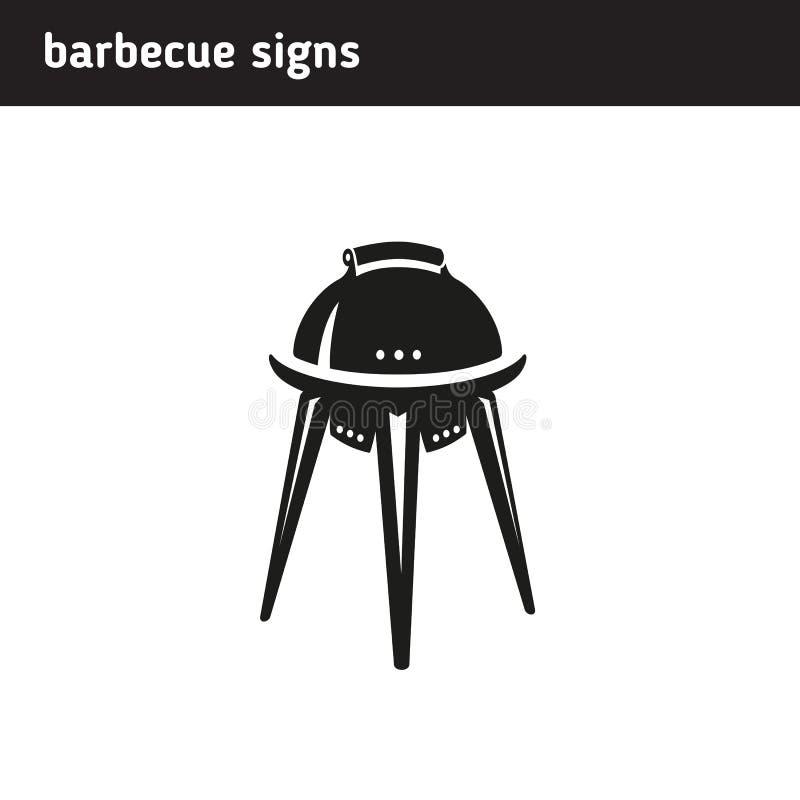 Logo w postaci grilla ilustracja wektor