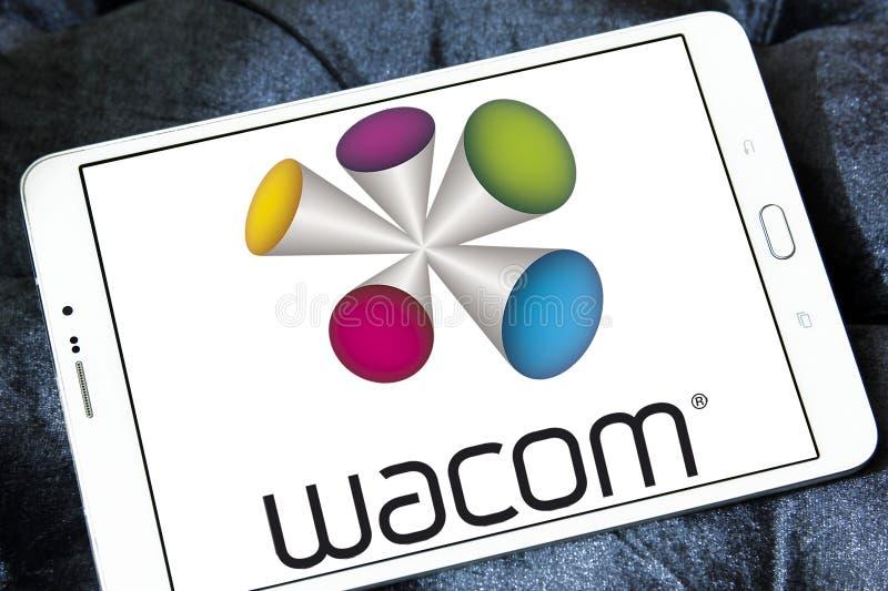 Wacom technology company logo. Logo of Wacom technology company on samsung tablet. wacom is a Japanese company headquartered in Kazo, Saitama, Japan, that royalty free stock photos