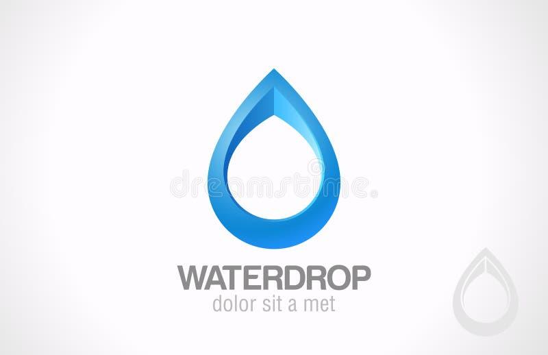 Logo Water-dalingssamenvatting. Creatief ontwerpdruppeltje. vector illustratie