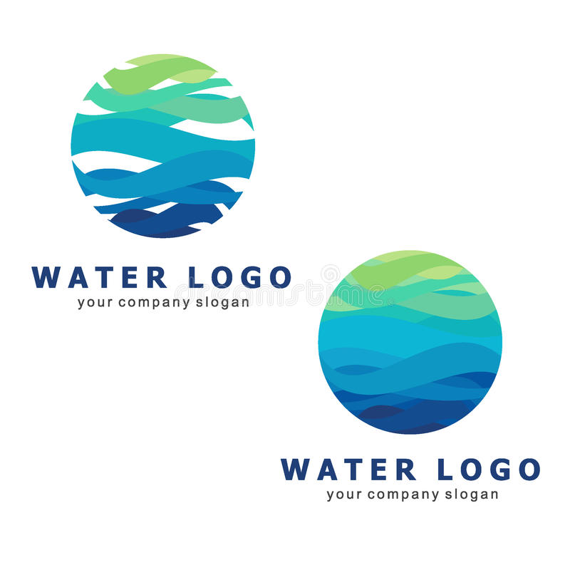 Logo for water and plumbing. Water Association. Icons in vector. Water world. Logo for water and plumbing. Water Association. Icons in vector stock illustration