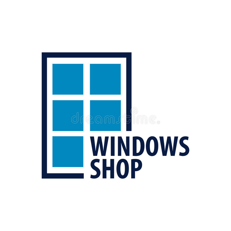 Logo Windows-opslag Installateursbedrijf Vector illustratie vector illustratie