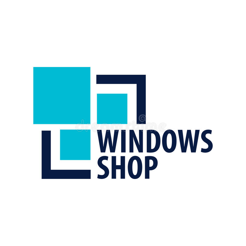Logo Windows-opslag Installateursbedrijf Vector illustratie stock illustratie
