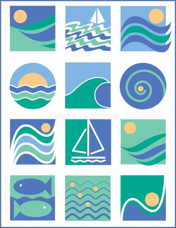 logo wody royalty ilustracja