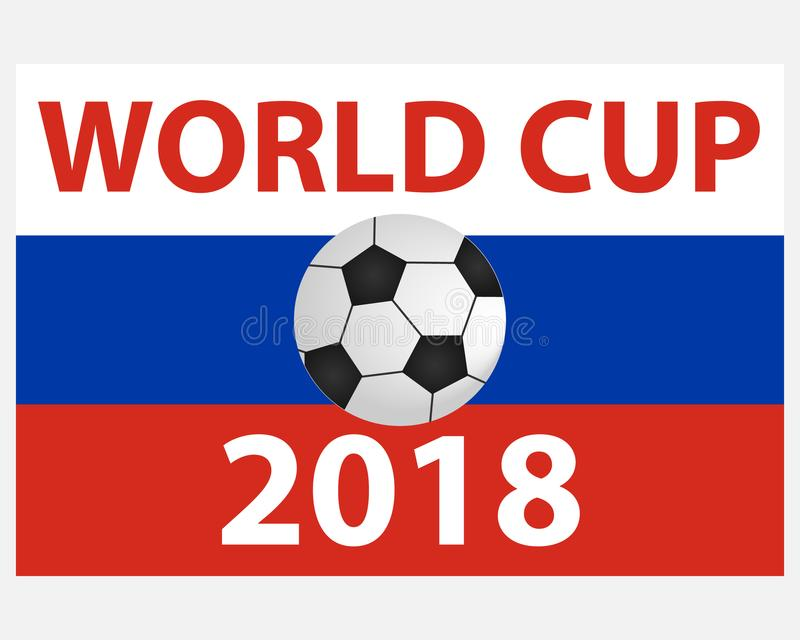 Logo of the World Cup 2018. Badge of the World Cup. royalty free illustration