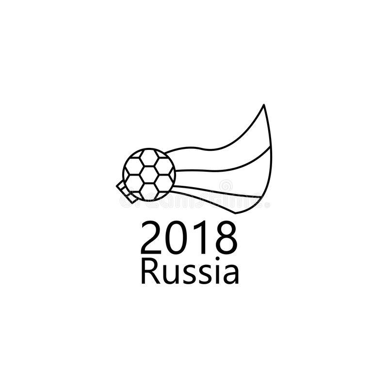 logo of the World Cup 2018 icon. Element of soccer world cup 2018 for mobile concept and web apps. Thin line logo of the World Cup royalty free illustration