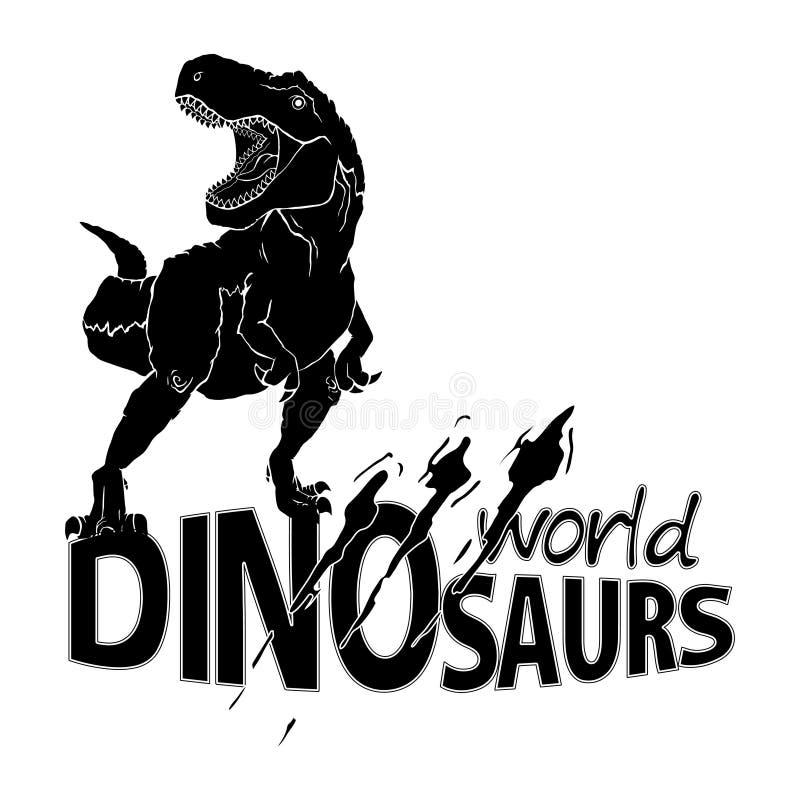 Logo World of Dinosaurs. royalty free illustration