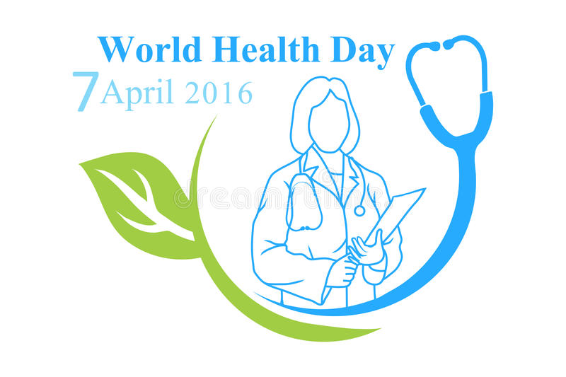 Download The Logo Of World Health Day With Image A Doctor Stock Vector