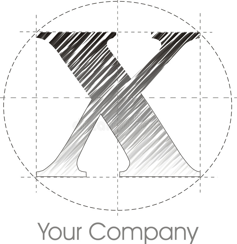 logo x vektor illustrationer