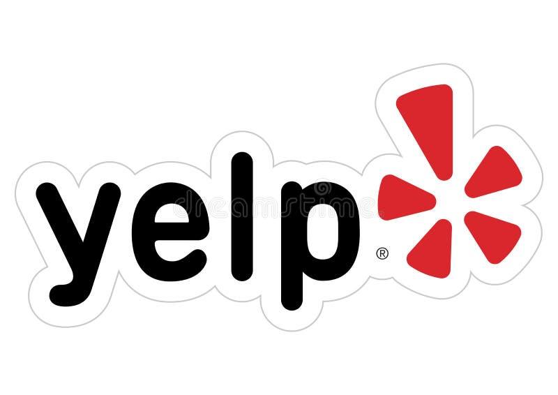 Logo Yelp illustration libre de droits