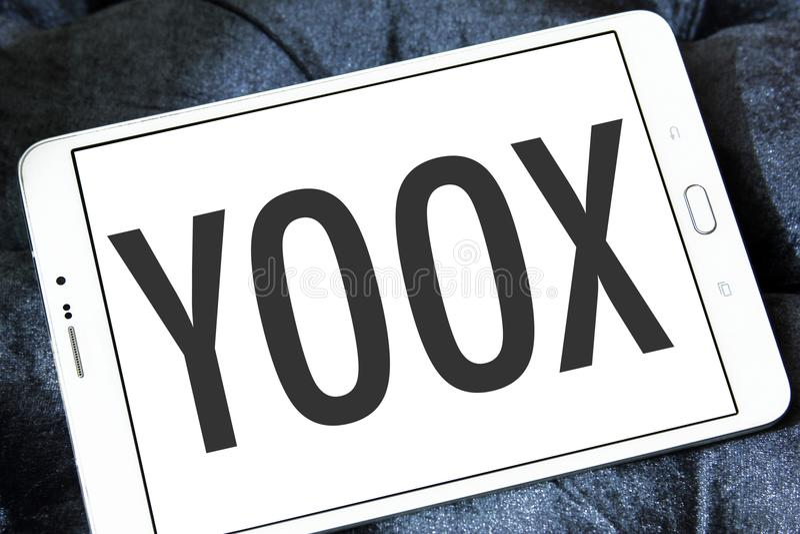 YOOX Fashion brand logo stock photos