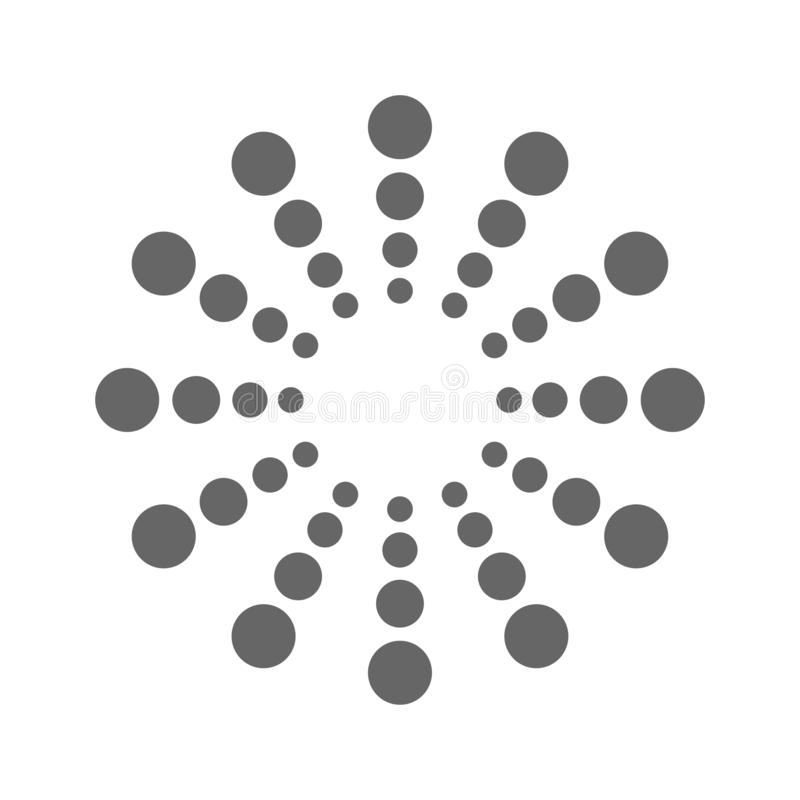 Logo for your brand dots in circles. Vector royalty free illustration