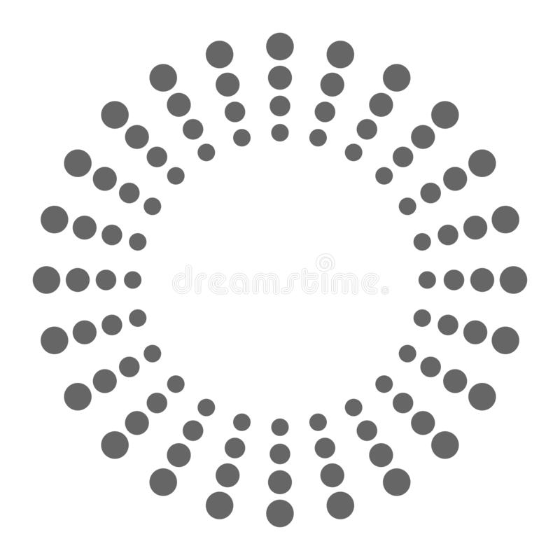 Logo for your brand dots in circles. Vector stock illustration