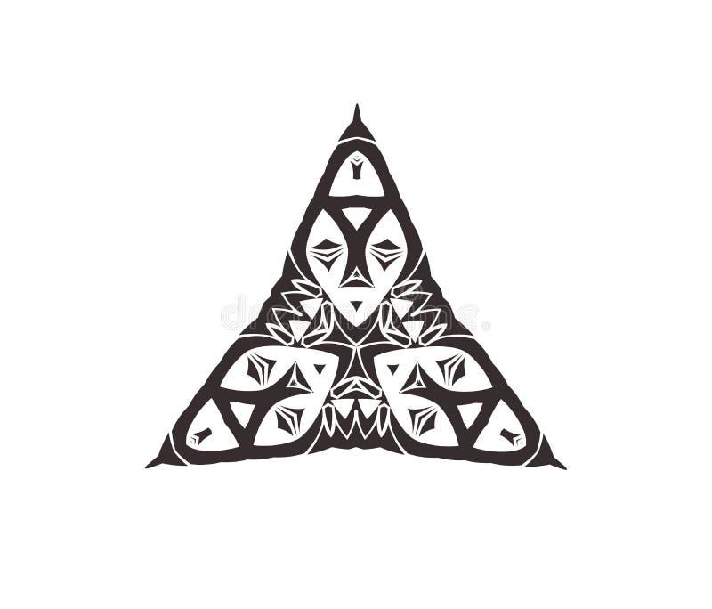 Logo z afrykanin maską ilustracja wektor