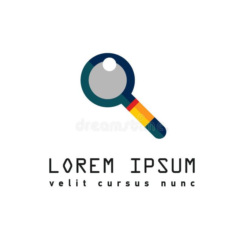 Logo z magnifier dla rewizi royalty ilustracja