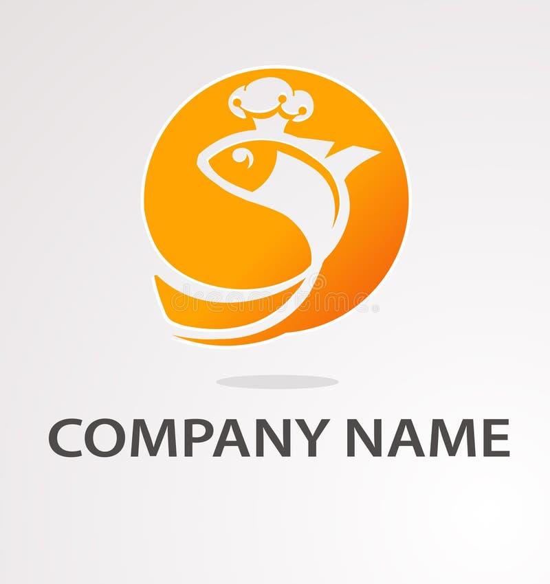Logo z złotą ryba royalty ilustracja