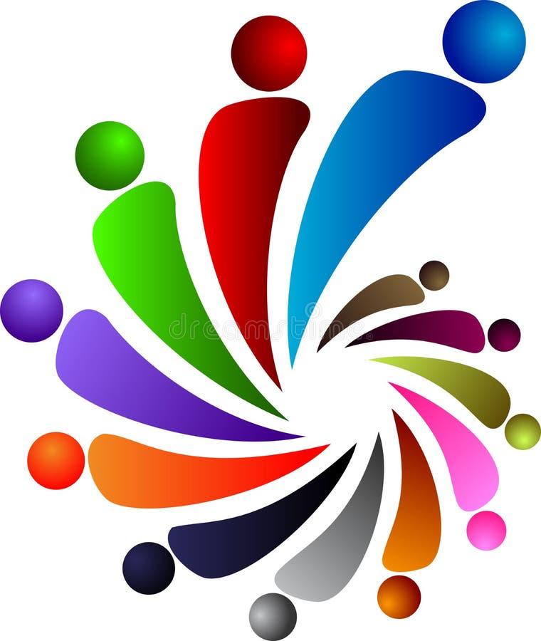 logo zaludnia ilustracja wektor