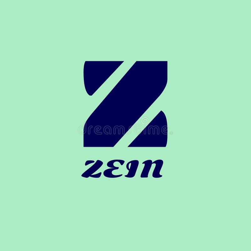 Logo Zein immagini stock libere da diritti