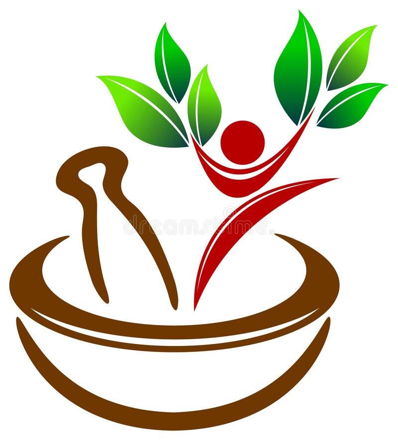 logo ziołowa medycyna royalty ilustracja